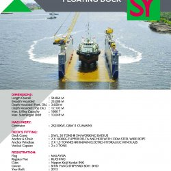 2,500 Tonnes Floating Dock